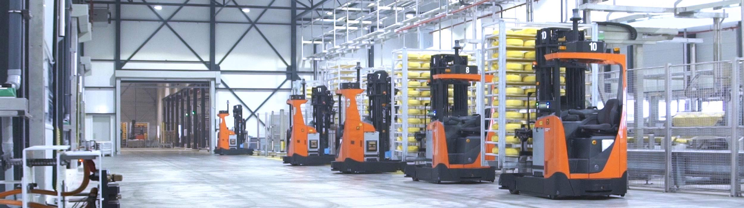 Automated trucks in factory